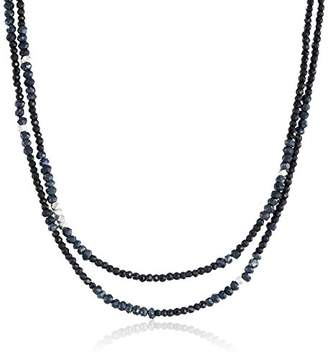 """King Baby Studio Heartbreaker"""" Mixed Beads and Silver Stations Necklace"""