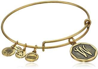"Alex and Ani Rafaelian Silver-Tone Initial ""H"" Expandable Wire Bangle Bracelet"
