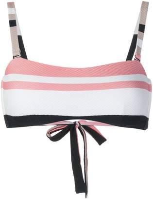 Asceno bold stripe wrap bikini bandeau