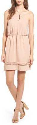 Women's Lush Y-Neck Blouson Dress $45 thestylecure.com