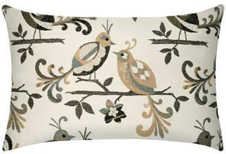 Elaine Smith Lovebirds Lumbar Indoor/Outdoor Pillow