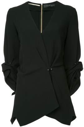 Roland Mouret V-neck asymmetric blouse
