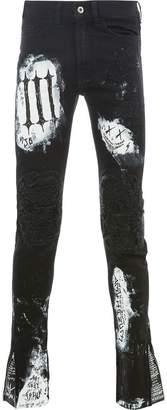 Mjb patchwork distressed skinnt trousers