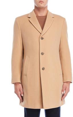 Tommy Hilfiger Camel Barnes Button Coat