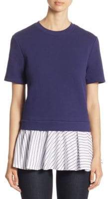 Carven Babydoll Layered Cotton Top