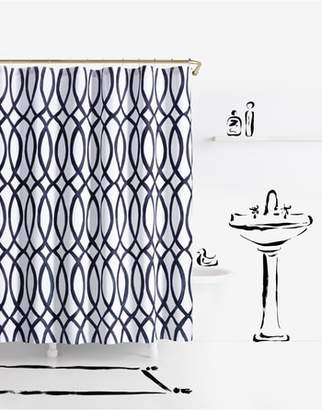 Kate Spade Painted Trellis Shower Curtain