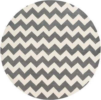 Artistic Weavers AWAT2039-36RD Transit Penelope Round Hand Tufted Area Rug, Gray - 3 ft. 6 in.