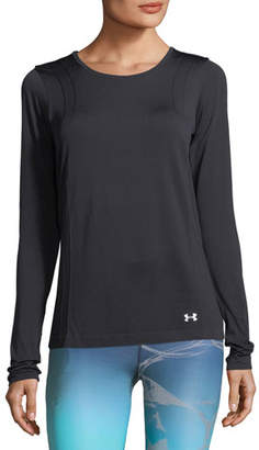 Under Armour Threadborne Seamless Long-Sleeve Performance Top, Black