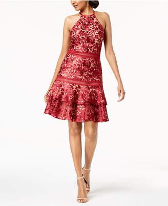 Xscape Evenings Lace Halter Dress
