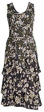 MICHAEL Michael Kors Women's Cascading Floral Midi Dress