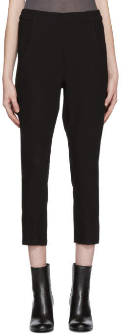 Black Slim Wool Trousers