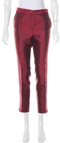 CelineCéline Cropped Satin Pants