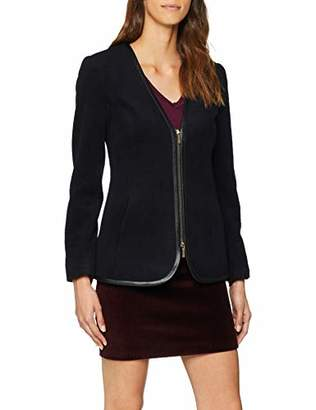 Armani Exchange Women's 6zyg02 Suit Jacket, (Black 1200), (Size: 4)