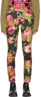 Junya Watanabe Black Flower Print Jeans