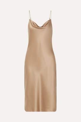 Nili Lotan Junie Draped Silk-satin Dress