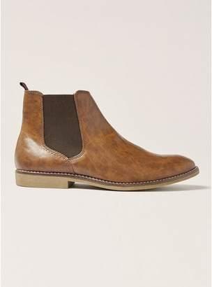 Topman Mens Brown Tan PU Chelsea Boots