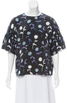 Kenzo Silk Floral Print Top