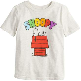 bbcddb6f1 Boys 4-12 Jumping Beans Peanuts Snoopy Rainbow Letters Graphic Tee