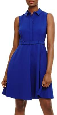 Phase Eight Claire Belted Shirt Dress, Bluebell