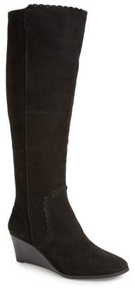 Jack Rogers Mia Suede Knee-High Wedge Boot