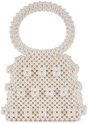 Shrimps Dante Faux Pearl Beaded Top Handle Bag