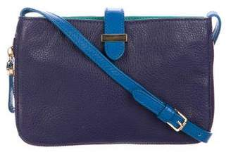 Tory Burch Leather Zip-Accented Crossbody Bag