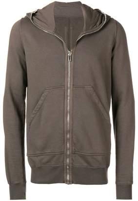 Rick Owens zipped long sleeve hoodie