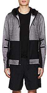 Isaora Men's Mesh-Print Hooded Jacket - Gray