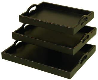 Uma Enterprises Set Of 3 Trays