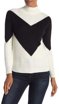 Love by Design V-Placement Mock Neck Sweater