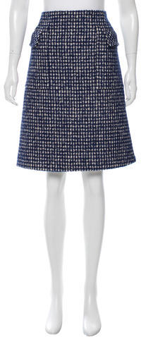 Bottega Veneta Bottega Veneta Gingham Knee-Length Skirt