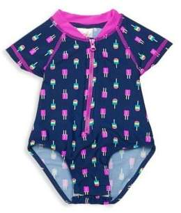 Baby Girl's One-Piece Popsicle Swimsuit