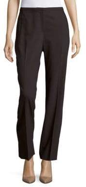T Tahari Diamond Solid Straight-Fit Pants