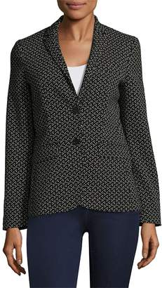 Piazza Sempione Women's Dotted Blazer - Black-white, Size 46 (12)