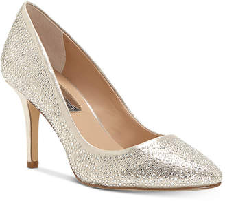 INC International Concepts I.n.c. Women's Zitah Rhinestone Pointed Toe Pumps