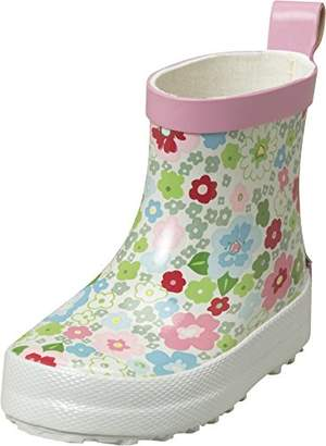Playshoes Girls' Blumen Kurz Wellington Boots,9UK Child