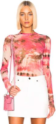 MSGM Sheer Blouse in Pink | FWRD
