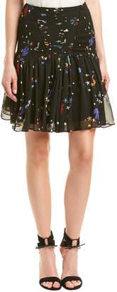 Maje Smocked Mini Skirt