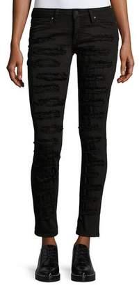 Robin's Jeans Marilyn Distressed Skinny Jeans, Black