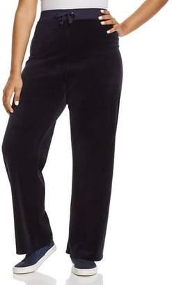 Juicy Couture Black Label Plus Black Label Original Flare Velour Pants - 100% Exclusive