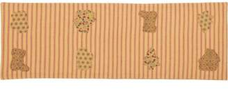 Ashton & Willow Country Red Seasonal Decor Cookie Cutter Cotton Appliqued Striped Rectangle 8x24 Runner