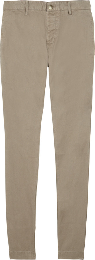 Acne Gin cotton-twill pants