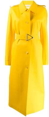 Bottega Veneta long belted raincoat