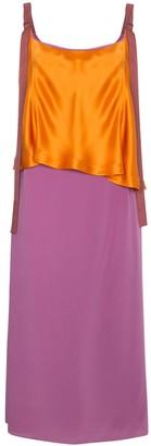 Sies Marjan Silk colour block strappy dress