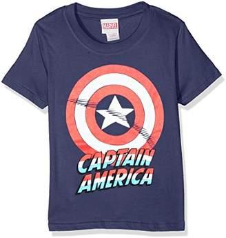Marvel Boy's Captain America Shield-Kids LRG T-Shirts,(Manufacturer Size:Large)