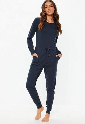 Missguided Navy Loungewear Romper