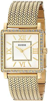 GUESS Women's U0826L2 Dressy Gold-Tone Watch with White Dial