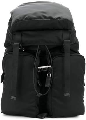 Prada double straps multi-pockets backpack