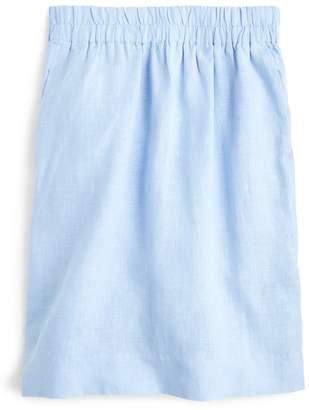 J.Crew Point Sur Pull-On Solid Linen Skirt