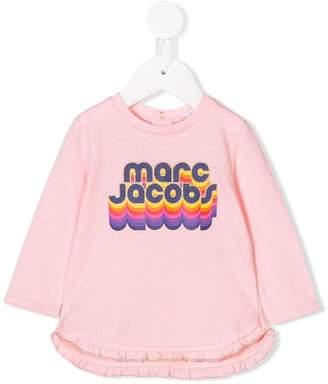 Little Marc Jacobs rainbow logo print T-shirt